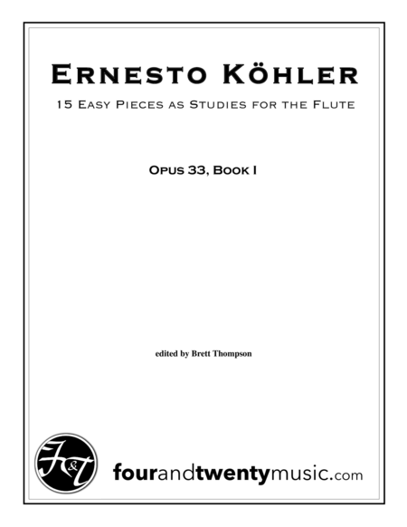 Progress in Flute Playing, 15 Easy Pieces as Studies, opus 33, Book 1