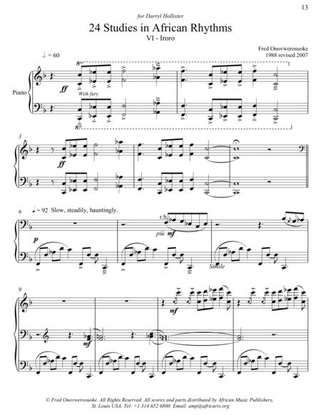 Twenty-Four Studies in African Rhythms, No. 6