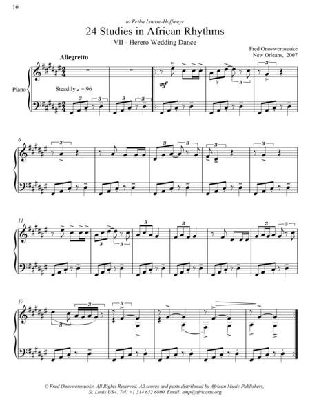 Twenty-Four Studies in African Rhythms, No. 7