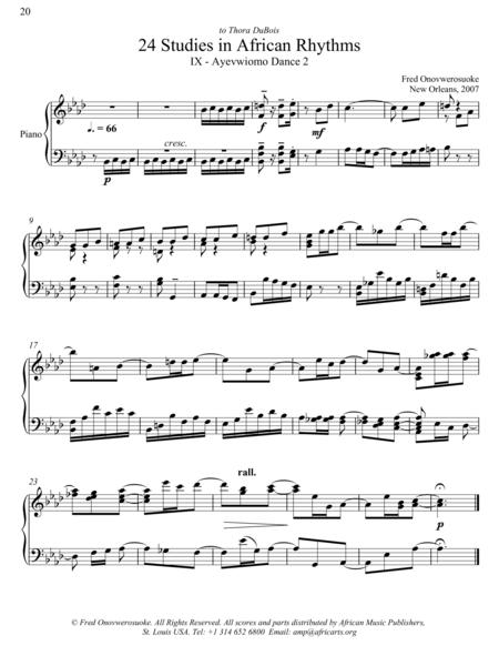 Twenty-Four Studies in African Rhythms, No. 9
