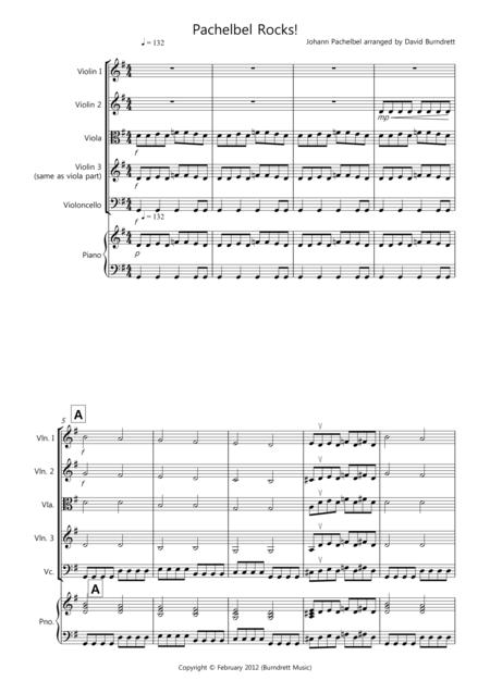 Pachelbel Rocks! for String Quartet