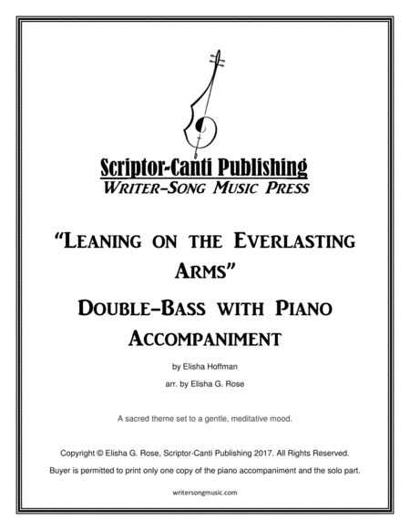 Leaning on the Everlasting Arms - Bass