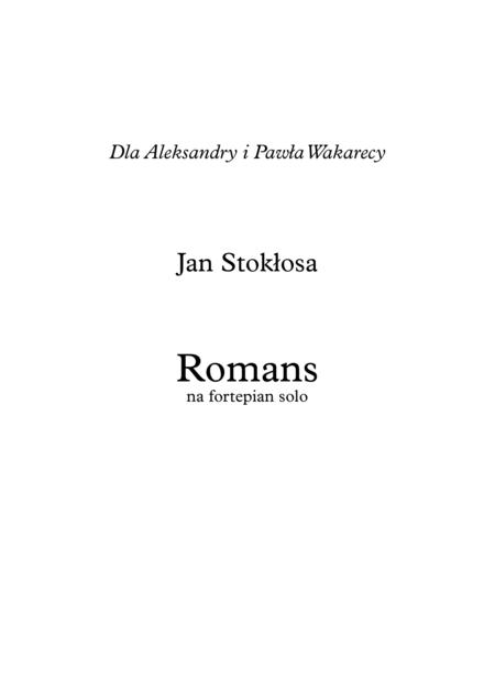 'Romance' for piano solo