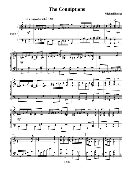 New Ragtime Piano Music for Piano Solo