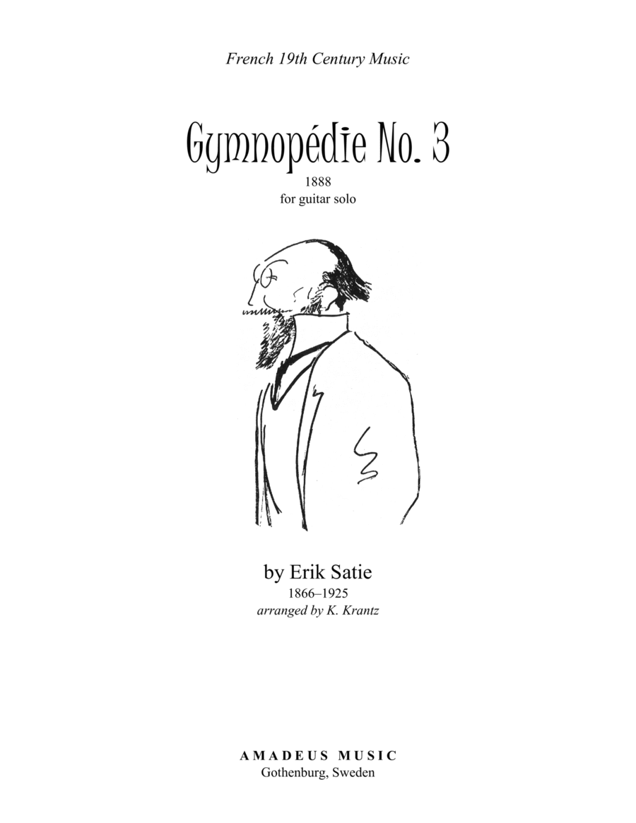 Gymnopedie No. 3 for guitar solo