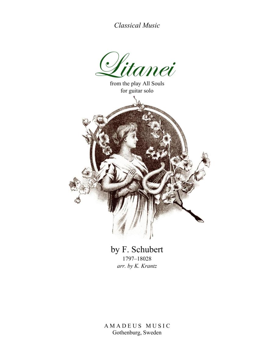 Litanei for guitar solo