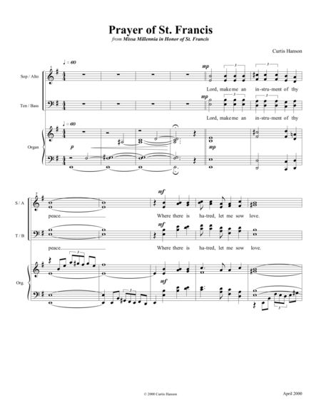 Prayer of St. Francis (SATB)