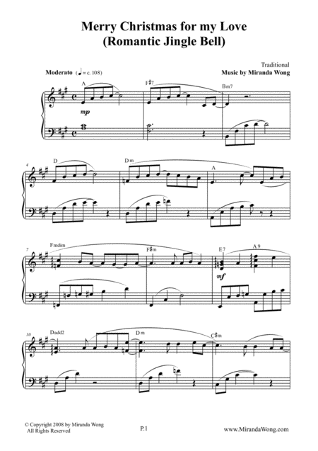 Merry Christmas for my Love - Romantic Piano Solo in A Major