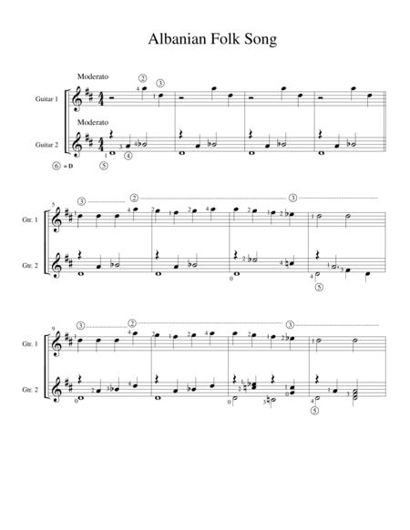 Albanian Folk Song (classical guitar duo)