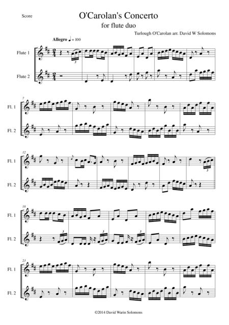 O'Carolan's Concerto for flute duo