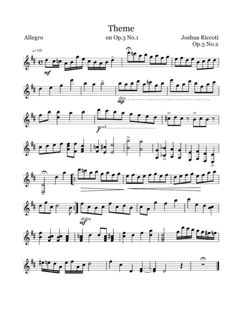 Theme on Op.3 No.1