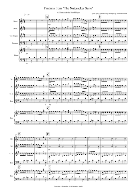 Dance of the Reed Pipes (Fantasia from Nutcracker) for Double Reed Quartet