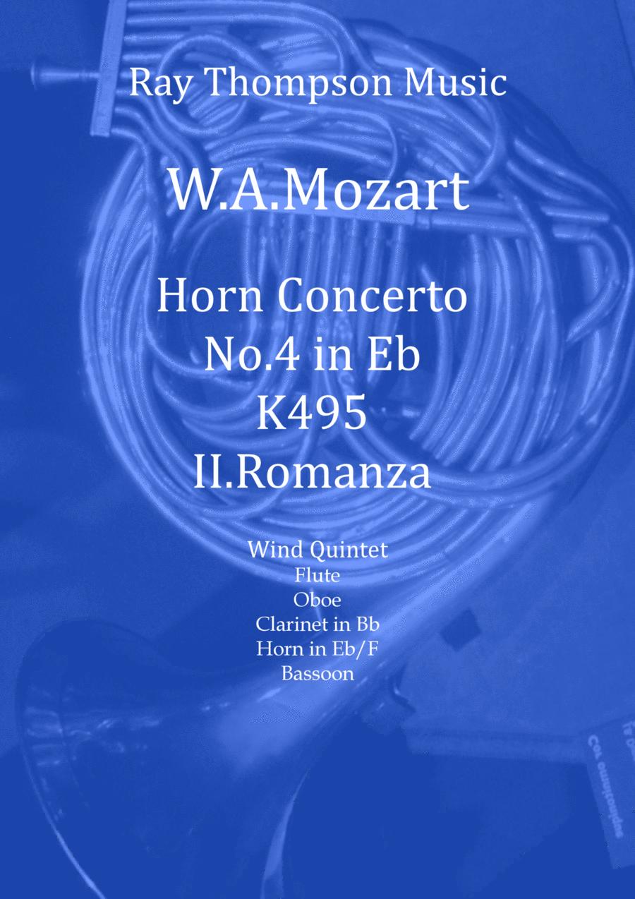 Mozart: Horn Concerto in Eb K495. Mvt II. Romanza (Romance) - wind quintet (featuring horn)