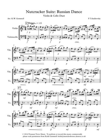 The Nutcracker Suite: Russian Dance - Violin and Cello Duet