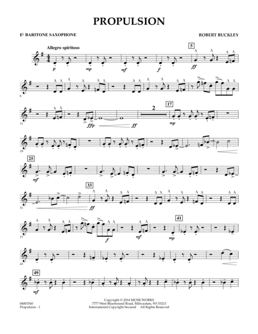 Propulsion - Eb Baritone Saxophone
