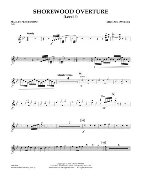 Shorewood Overture (for Multi-level Combined Bands) - Mallet Percussion 1 (Level 3)