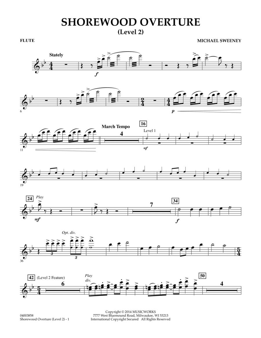 Shorewood Overture (for Multi-level Combined Bands) - Flute (Level 2)