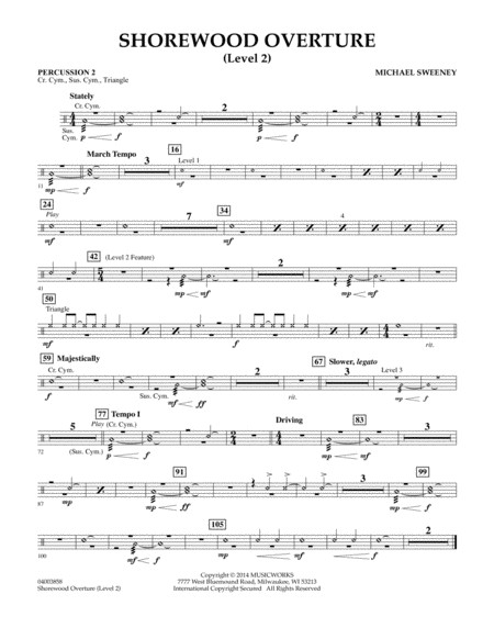Shorewood Overture (for Multi-level Combined Bands) - Percussion 2 (Level 2)
