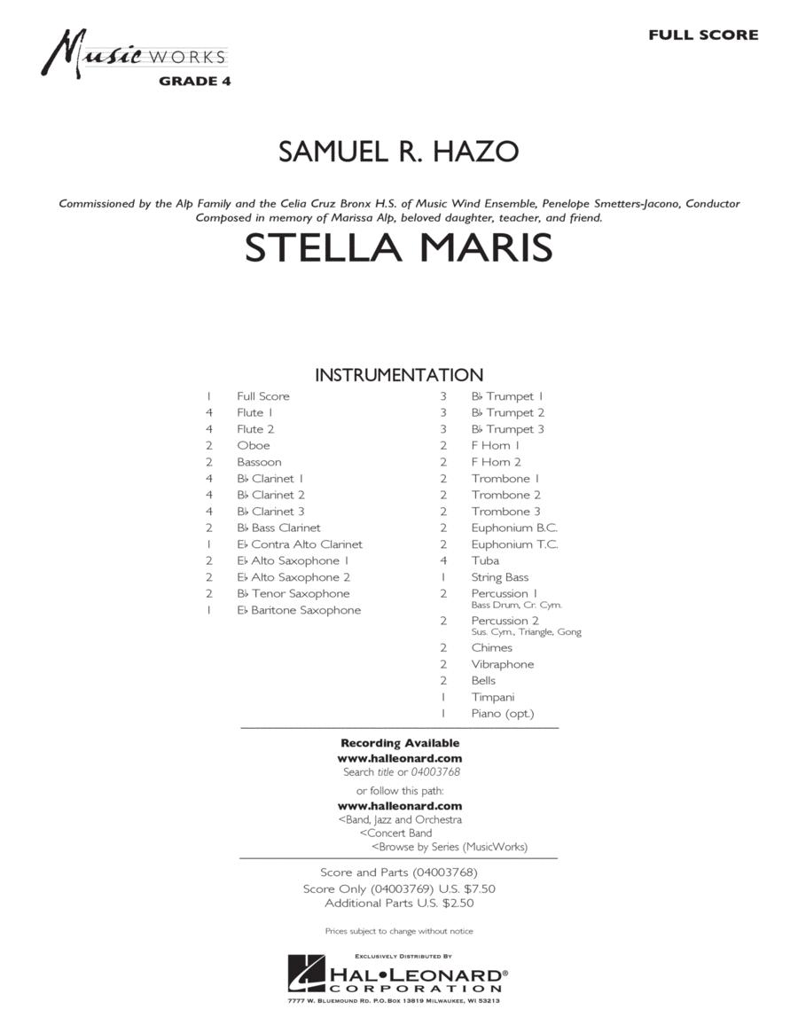 Stella Maris - Conductor Score (Full Score)