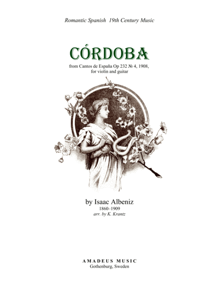 Cordoba from Cantos de Espana, Op. 232 for violin and guitar