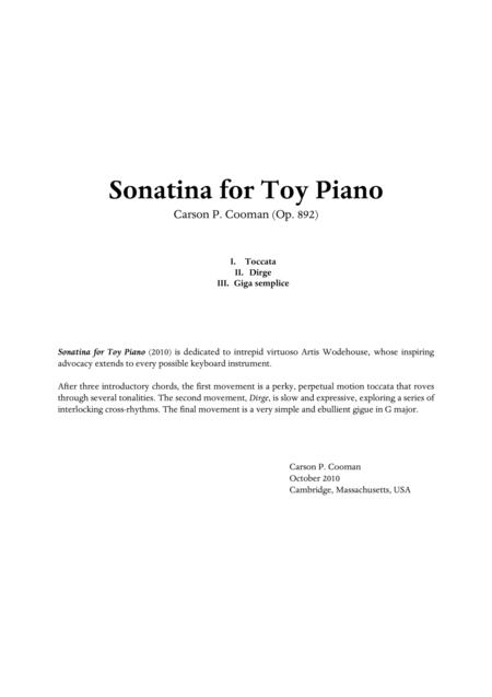 Carson Cooman  - Sonatina for toy piano
