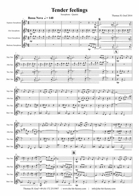 Tender feelings – Bossa Nova - Saxophone Quartet