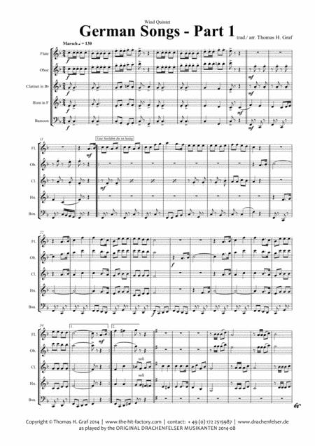 German Songs Part 1 - Oktoberfest - Wind Quintet