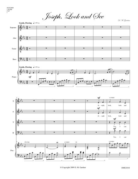 Joseph, Look and See (SATB divisi and Piano)