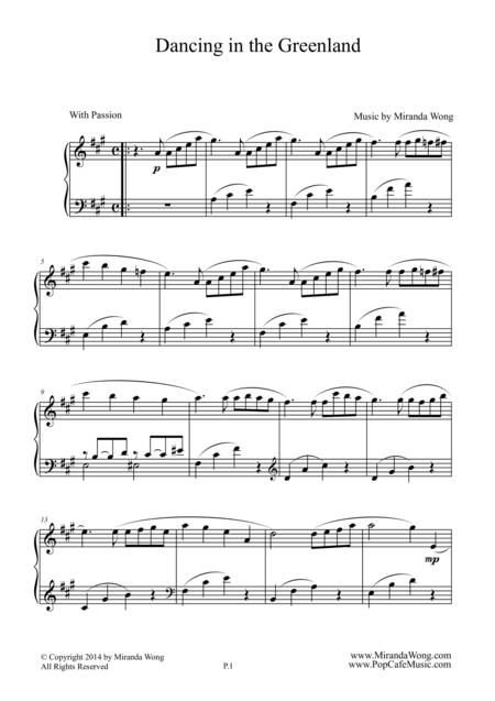 Dancing in the Greenland - Beautiful Piano Solo