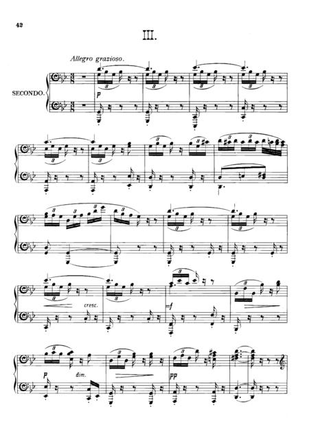Dvorak Symphony  No.8  III, IV, for piano duet(1 piano, 4 hands), PD804