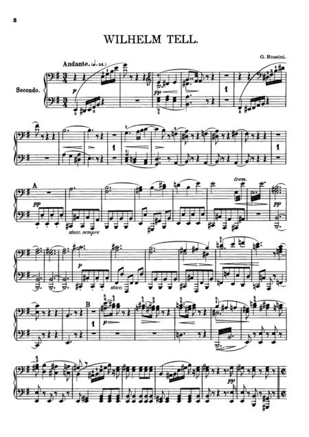 Rossini William Tell Overture, for piano duet(1 piano, 4 hands), PR822