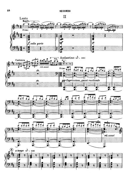 Rimsky-Korsakov Sheherazade II, for piano duet(1 piano, 4 hands), PR832