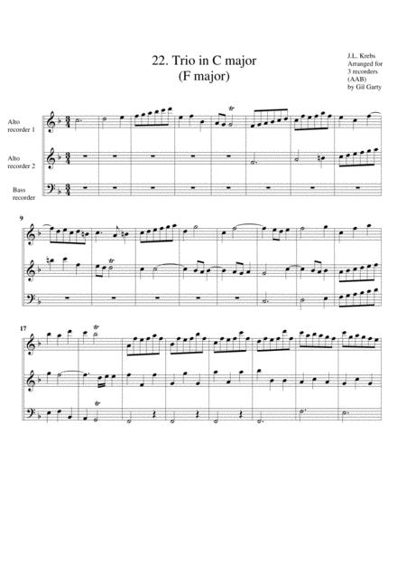 Organ trio in C major (Breitkopf edition no.22)