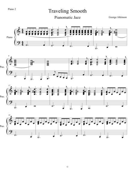 Traveling Smooth - Piano 2