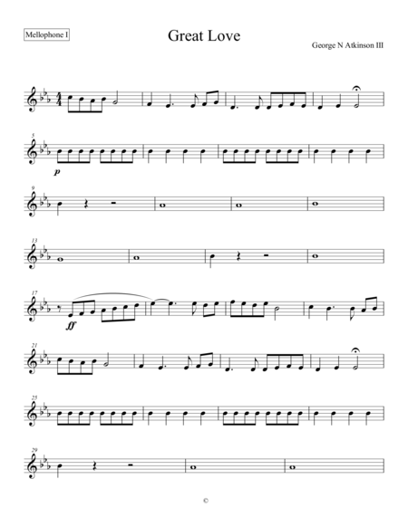 Great Love - Mellophone I (French Horn I)