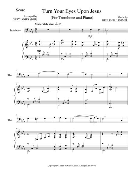 TURN YOUR EYES UPON JESUS (Trombone Piano and Trombone Part)
