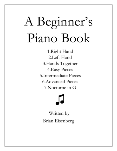 A Beginner's Piano Book