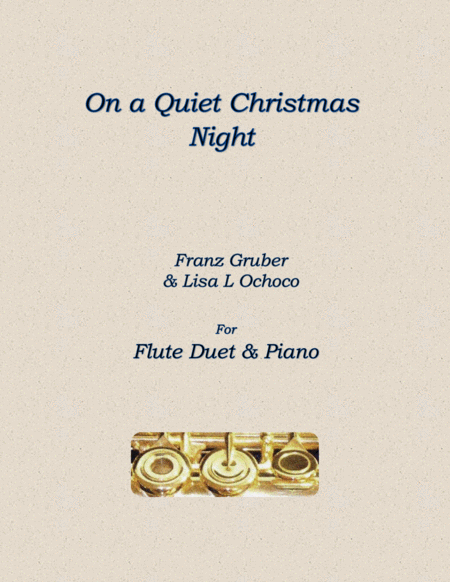 On a Quiet Christmas Night for Flute Duet and piano