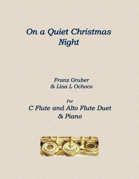 On a Quiet Christmas Night for C flute/Alto flute and Piano