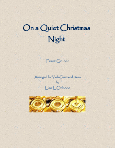 On a Quiet Christmas Night for Violin Duet and piano