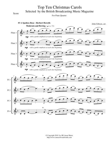 A Spotless Rose for Flute Quartet - Christmas Musoc