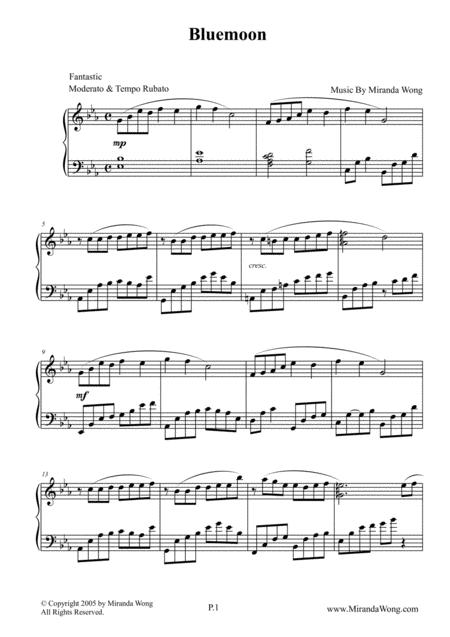 Bluemoon - New Age Piano Music by Miranda Wong