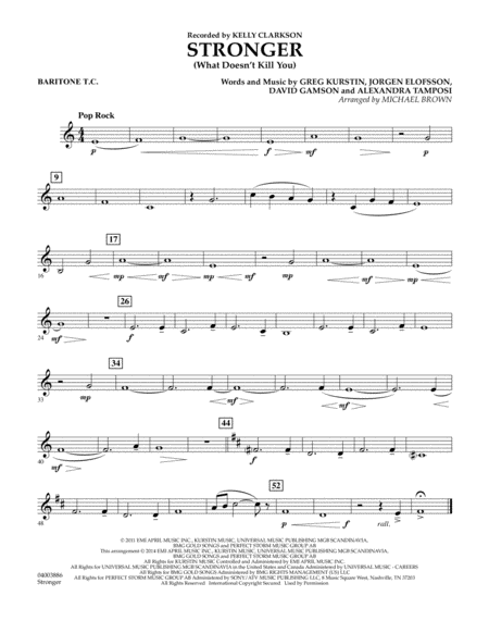Stronger (What Doesn't Kill You) - Baritone T.C.