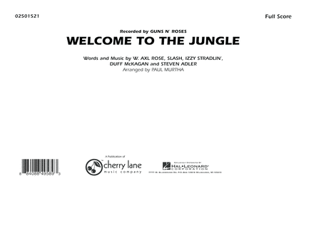 Welcome To The Jungle - Full Score