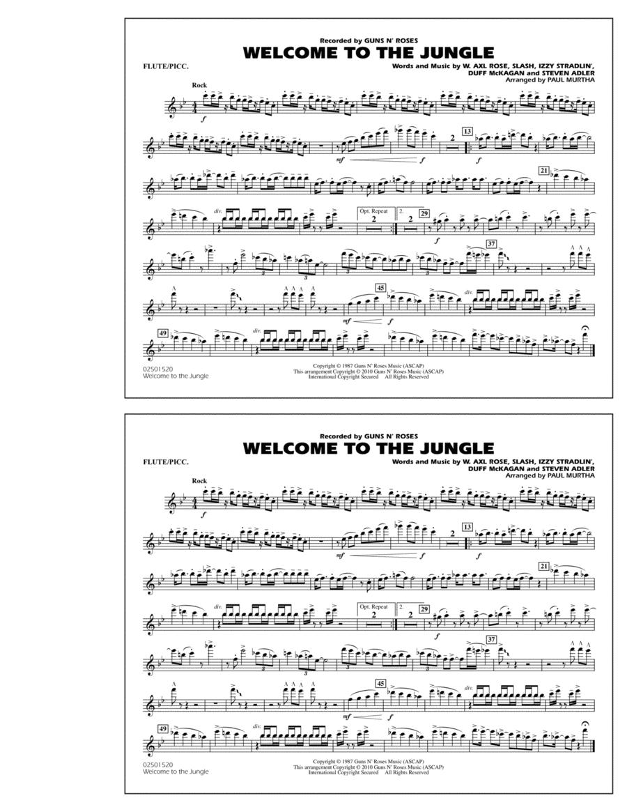 Welcome To The Jungle - Flute/Piccolo