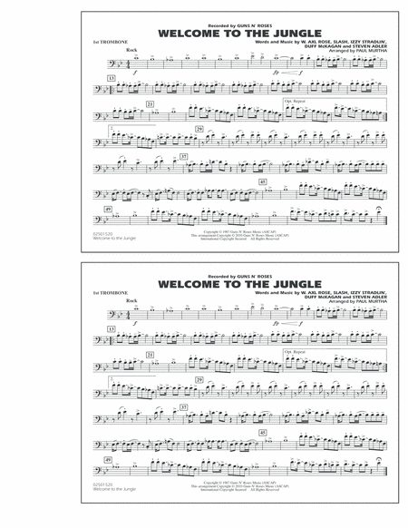Welcome To The Jungle - 1st Trombone