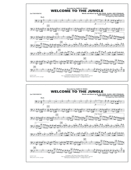 Welcome To The Jungle - 2nd Trombone