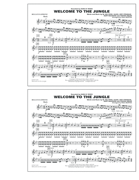 Welcome To The Jungle - Bells/Xylophone