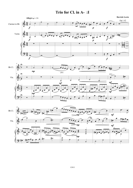 Trio in A minor for clarinet, violin, and piano, op. 1 no. 2 COMPLETE