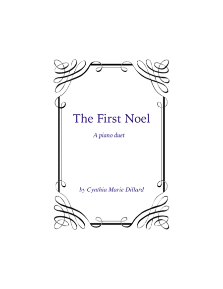 The First Noel, a new Christmas Piano Duet